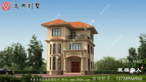 三层小别墅外观设计图,大气好看。