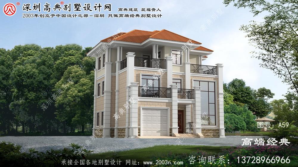 秦淮区欧式古典高档三层别墅设计图