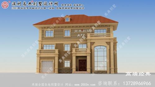 盱眙县时尚典雅的三层欧式风格别墅