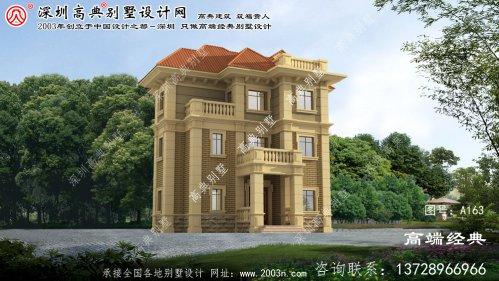 润州区欧式三层别墅自营住宅设计图推荐
