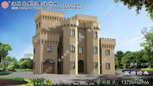 镇海区西式城堡平屋顶别墅
