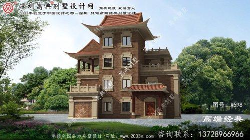 岳西县自建四层别墅设计图纸