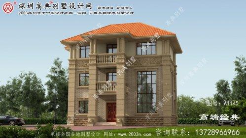 岚山区农村3层别墅设计图