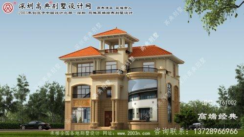 鄂尔多斯市豪华别墅建筑设计图