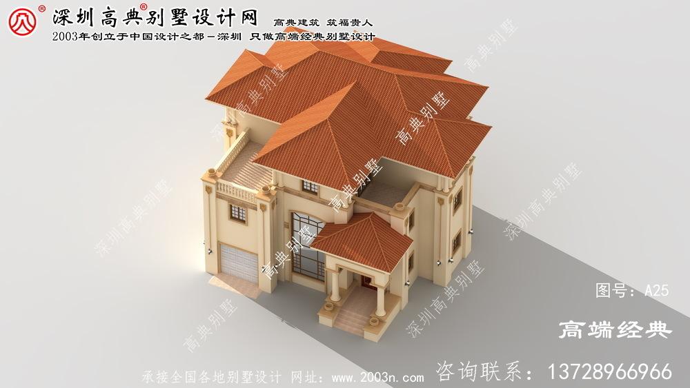 太和区三层欧式别墅设计图