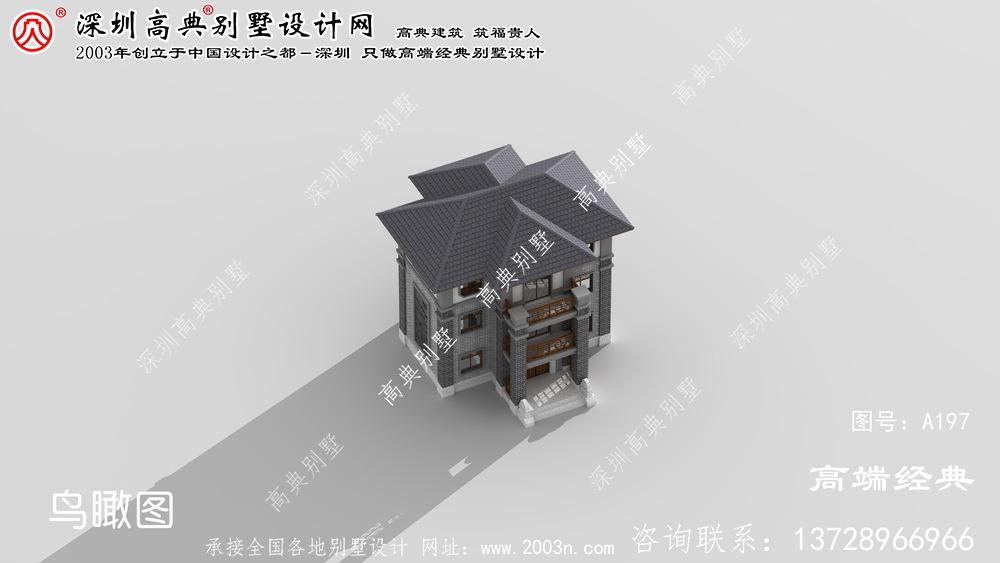乾安县农村中式别墅设计图纸