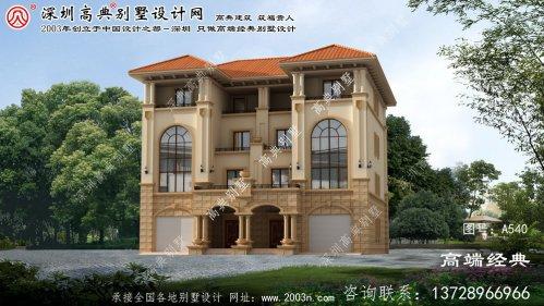 阳明区双拼别墅外墙设计图