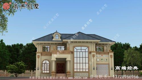 布拖县简欧房子外观设计图片