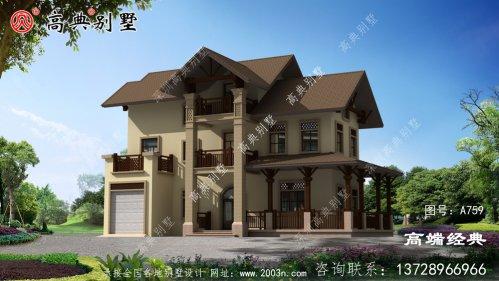 三层小别墅设计图带车库
