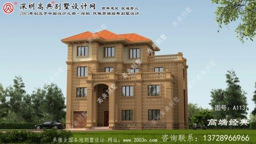雷波县欧式风格的四层别墅效果图