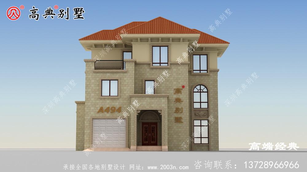 农村三层别墅设计预算不高的朋友看过来。