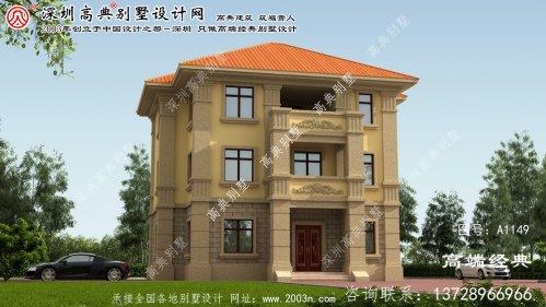 南丹县三层别墅图纸,不同效果的别墅,大家都
