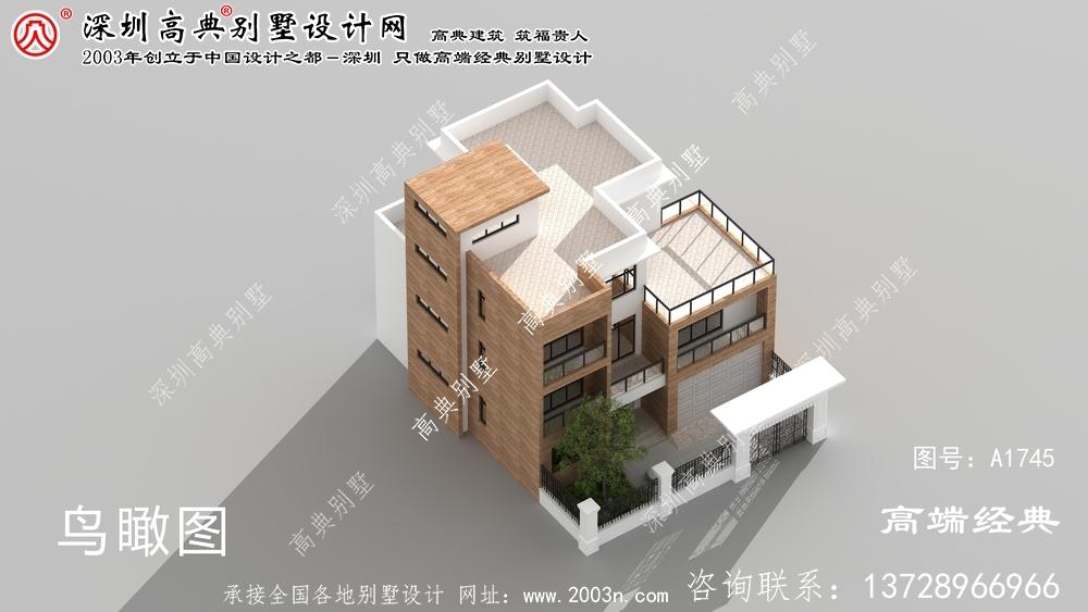 尉犁县现代风格平顶别墅,整体造型十分符合现代人的审美