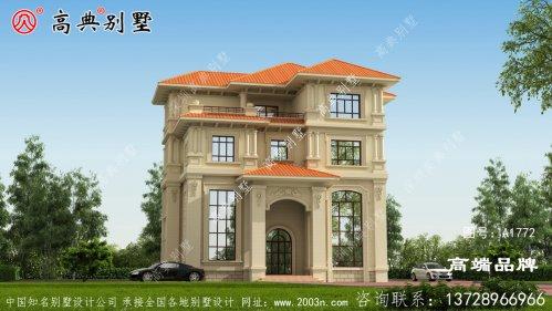 四层自建房设计图别墅造型结构精致端庄