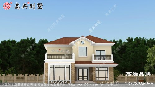 美式自建房设计图二层温暖的家。