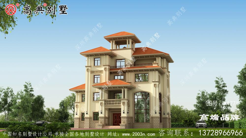 建房设计图农村建造一座舒适优雅的经济别墅,孝顺父母