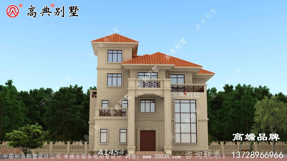 农村三层建房设计简欧风格 ,美好的生活