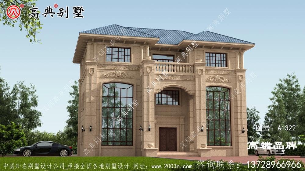 别墅外观设计图占地面积171平方米