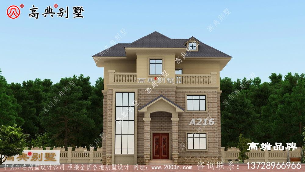 农村住宅内部设计图客厅挑空设计带露台