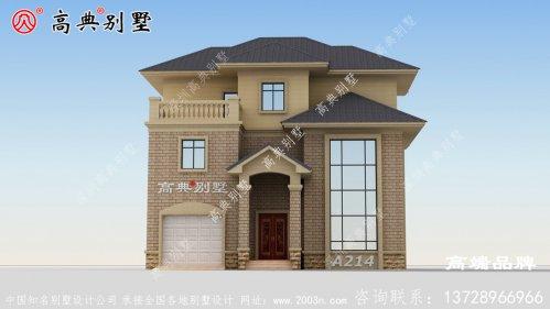 农村三房设计图功能齐全带车库