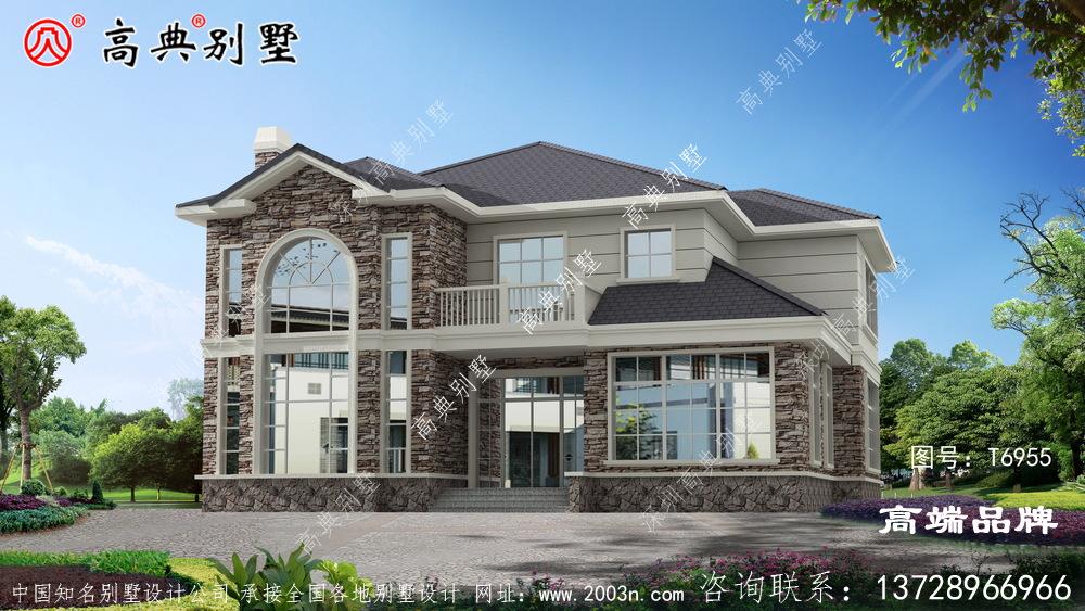 自建别墅图将房子整体轮廓勾勒得很完美。