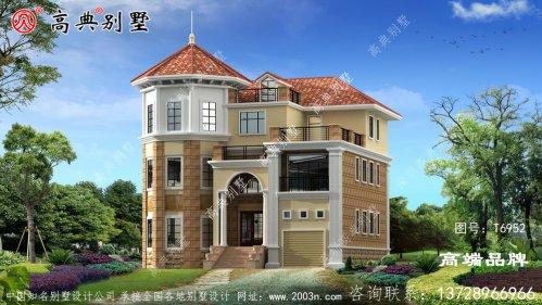 别墅外观实景图三层很注重细节