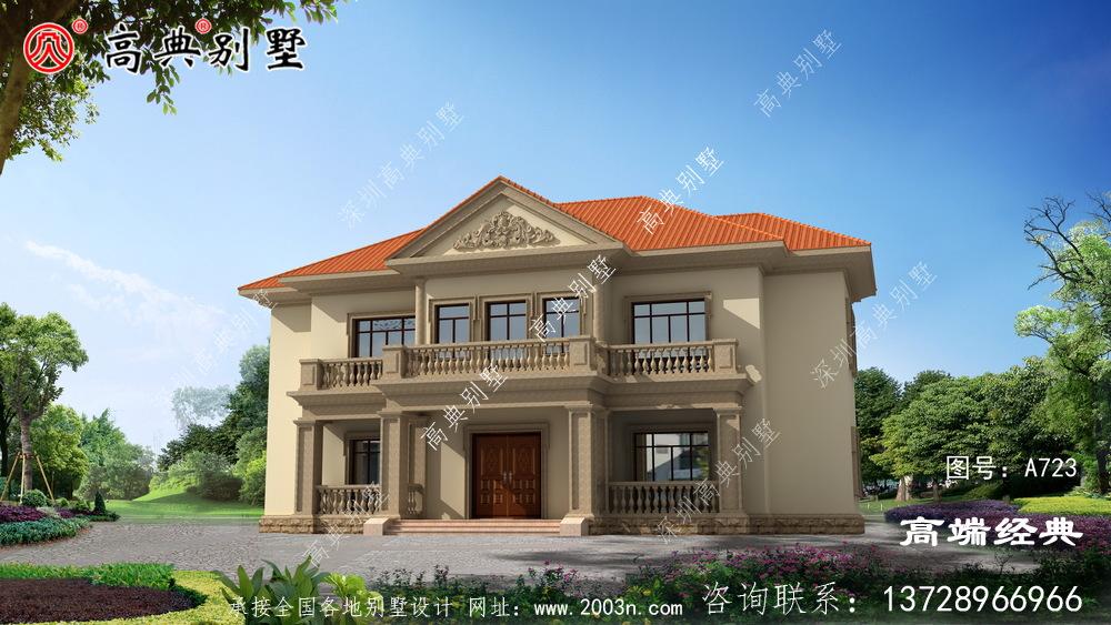 江都市二层 农村 小别墅 ,造价 非常 低廉 ,适合 农村 居住 。
