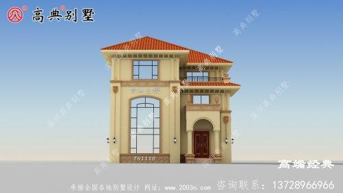 复式三层别墅设计图大气高端,看完都喜欢