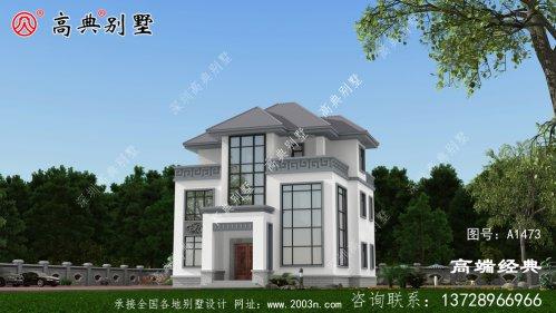 清香简陋古朴三层素雅中式风格别墅