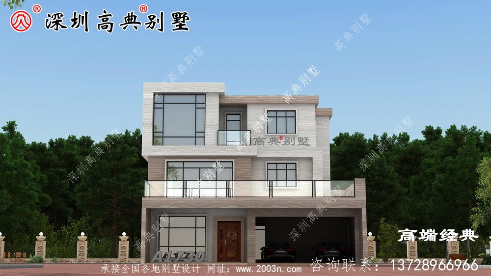 经典三层农村小楼设计图,造价40万以内,经济又实用,还等什么快来建吧。