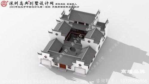 农村中式复古房子设计图,时尚不