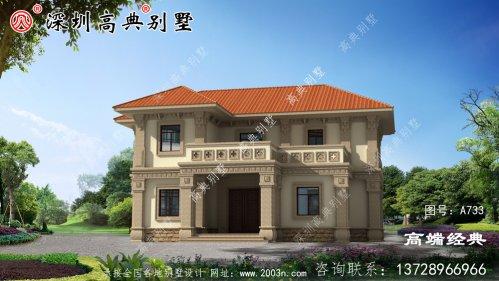 2021最新二层别墅外观图,简约又大气时尚,超想拥有
