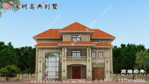 农村三层别墅设计图,这可比在城
