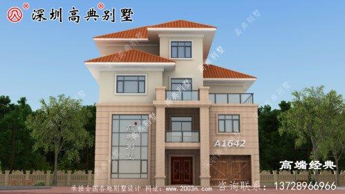 乡村自建房屋图片三层,造型简单