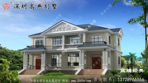 一栋二层别墅就是这样建造的,绝对没有人敢说你土,豪华大气。