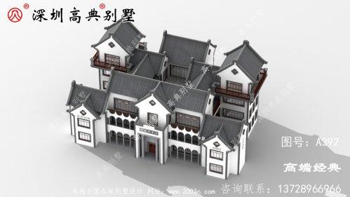 四层别墅设计图,在老家建一栋,亲戚朋友都羡