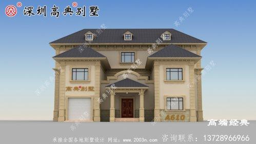 乡村二层建房子怎么设计才漂亮?看了这款,我想回家建房子了