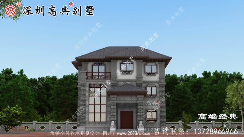 三层豪华别墅图,精致典雅,看完