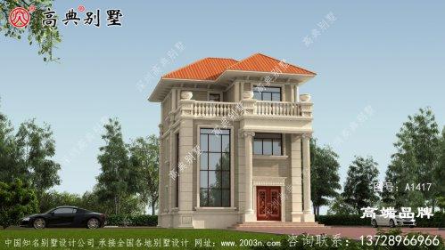 古典欧洲风格以橘坡屋顶配色,采
