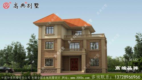 外观米色墙壁与橘色屋顶非常温馨