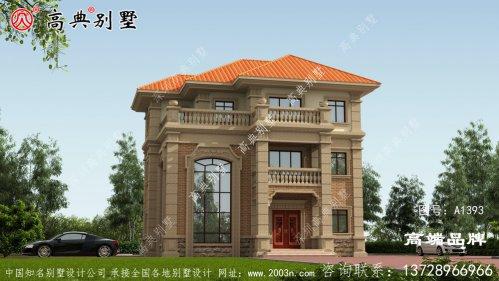 别墅外观优雅没有复杂的线条装