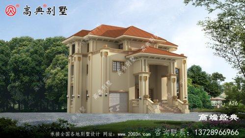 农村三层复式别墅设计图纸,经典